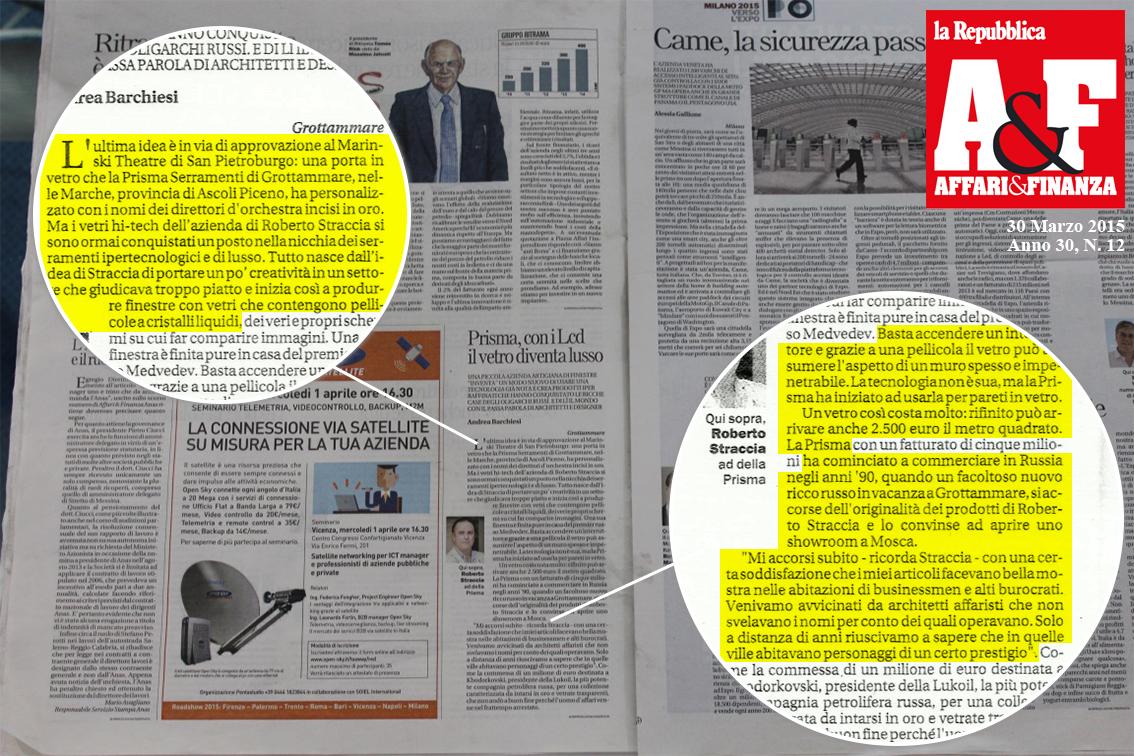 Articolo La Repubblica A&F
